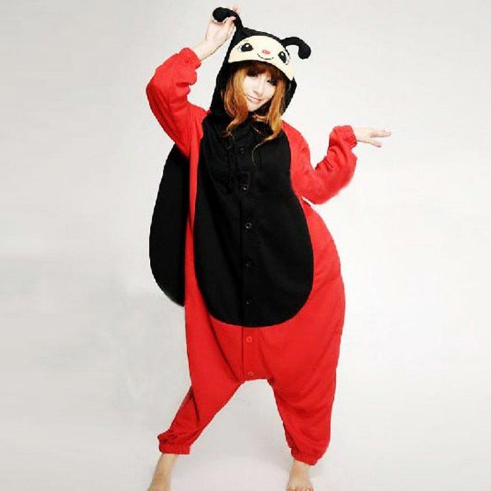 Adult Unisex Animal Seven Stars Ladybug Ladybird Pajamas Sleepsuit Cosplay Sleepwear