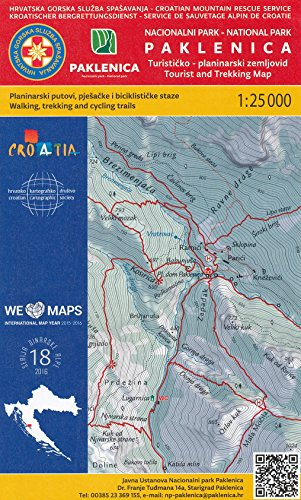 Paklenica NP (Croatia) 1:25 000 hiking map