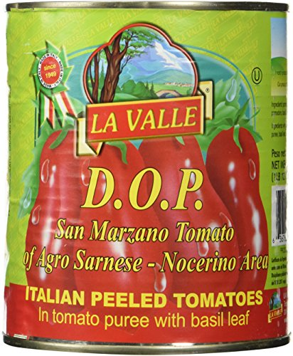 La Valle San Marzano DOP Tomatoes 28oz (5 cans) (Canned Plum Tomatoes compare prices)