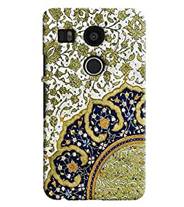Blue Throat Jaipuri Royal Pattern Printed Designer Back Cover For LG Google Nexus 5x