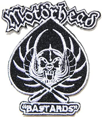 "2.5"" x 3""Motorhead BASTARDS Band Logo Heavy Metal Punk Rock Music Jacket T-shirt Patch Sew Iron on Embroidered Sign Badge music patch by Tourlesjours"