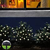 Innoo Tech 80 Blossom Flower Solar Led Lights String for Christmas Tree,Warm White Outdoor Fairy Lights for Patio Wedding Garden