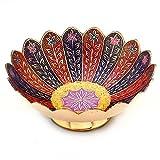 Little India Pure Brass Minakari Work Fruit Bowl Handicraft (209, Gold)