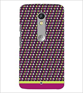 PrintDhaba Pattern D-1643 Back Case Cover for MOTOROLA MOTO X PLAY (Multi-Coloured)