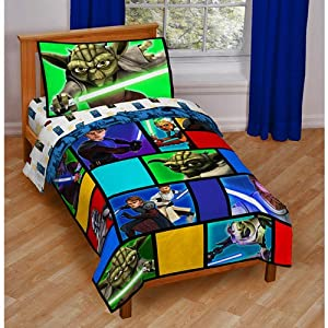 Star Wars by Hasbro Star Wars the Clone Wars 4pc Toddler Bedding Set at Sears.com