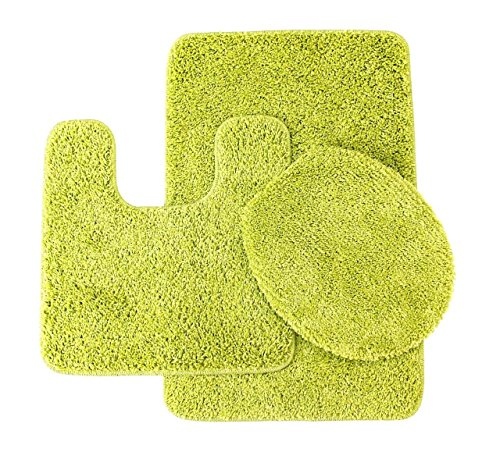 lime green bath mat sets 3 piece monte carlo spa collection rug set large mat 20