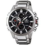 Casio Men's Edifice Tough Solar Stainless Steel Watch (Color: Silver)