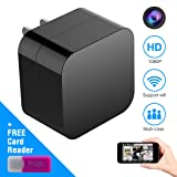 Hidden Spy Camera, Wireless USB Charger Mini Cam HD 1080P Home Security Camera with WiFi Remote View, Motion Detection (2018 New Version)