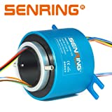 SENRING Factory Outlets 20MM Diam Through Bore Slip Ring 12 Wires 2A 240VAC VDC 250RPM Rotary Connector for CCTV Equipment System (Color: blue and black, Tamaño: Small)
