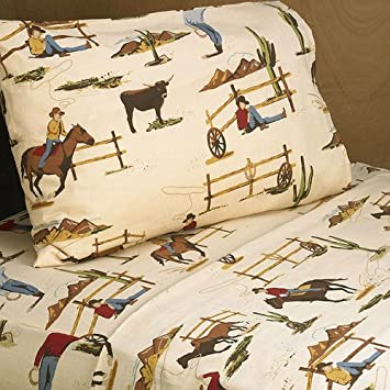 Marvelous pc Queen Sheet Set for Wild West Cowboy Bedding Collection by Sweet Jojo Designs