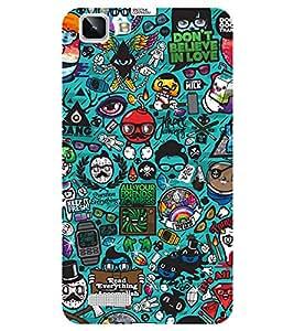 Chiraiyaa Designer Printed Premium Back Cover Case for Vivo Y27 Vivo Y27L (cartoon pattern) (Multicolor)