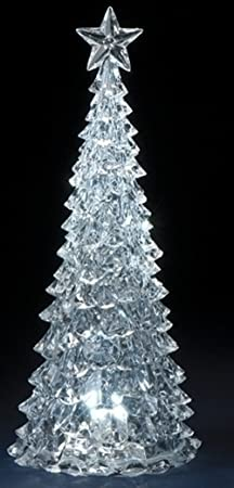 Acrylic Table Top Christmas Tree Figurine with LED Lights by Roman, Inc.