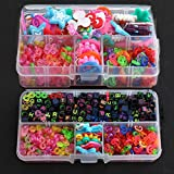 Toy - 200pcs Alphabet Perlen 60 x Chic Charms / Anh�nger / Zubeh�r 200 x S-Clips 200 x C-Clips + 6x Haken f�r Bunte Gummi-Band Loom