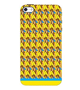 PrintDhaba Teddy Pattern D-1541 Back Case Cover for APPLE IPHONE 4 (Multi-Coloured)