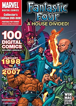 Marvel Comics - Fantastic Four: A House Divided - Over 100 Digital Comics from January 1998 to January 2007 on DVD-ROM in Acrobat PDF Format (Mac & Windows)