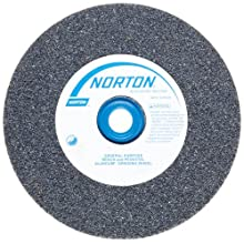 Norton Gemini Alundum Bench and Pedestal Grinding Wheel, Type 01, Round Hole, Aluminum Oxide