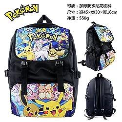 Japanese Anime Pocket Monster/Pokemon Polyester Backpack Printed with Pikachu