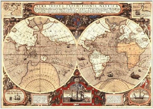 World Map Poster Large Giant Historical Map Of The World 1595