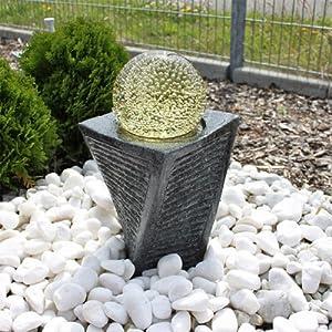 granit springbrunnen sb17 mit drehender kugel led. Black Bedroom Furniture Sets. Home Design Ideas