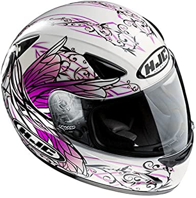 Hjc - Casque - CS 14 NAVIYA - Couleur : Blanc/Rose - Taille : XS