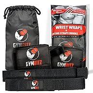 Wrist Wraps + Lifting Straps Premium…