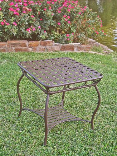 Santa Fe Iron Side Table (Matte Brown) (22