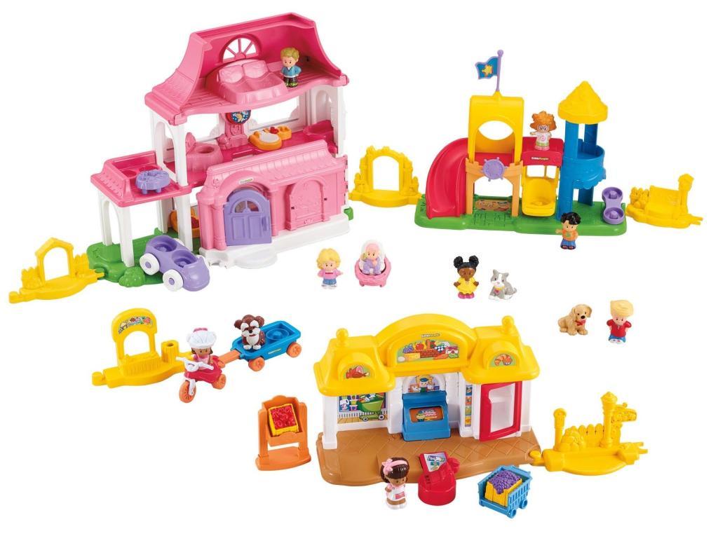 Amazon.com: Fisher-Price Little People Neighborhood Playground Playset