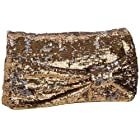 Kate Spade El Morocco Paola Clutch in Gold :  kate spade bag sequin metallic