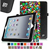 [New Release] Fintie Folio Case for Apple iPad 4th Generation with Retina Display, iPad 3 & iPad 2 Vegan Leather Stand with Smart Cover Auto Wake / Sleep - Skull Pattern
