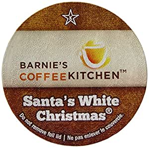 Barnie's CoffeeKitchen, Santa's White Chistmas Single-Cup Coffee for Keurig K-Cup Brewers, 24 Count
