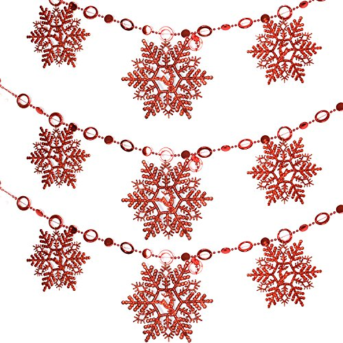 trixes-red-glittering-beaded-snowflake-chain-christmas-decoration-for-xmas-tree-home-kitchen-bedroom