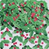 Holly and Berries Christmas Confetti 12oz Bag