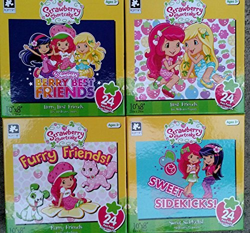 "Strawberry Shortcake 24 Pieces 10""x8"" Puzzles (Assorted, Designs & Quantities Vary)"