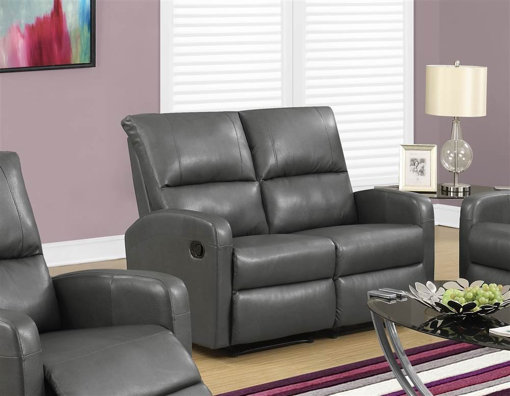 Reclining Loveseat in Charcoal Gray
