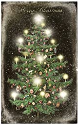 Ohio Wholesale Radiance Lighted Vintage Christmas Tree Canvas Wall Art, from our Christmas Collection