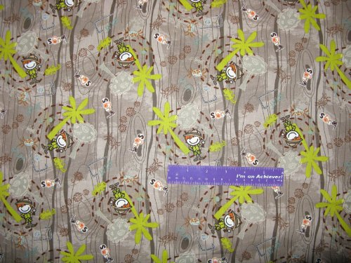 """44"""" Wide Safari Splat Bugs Cotton Fabric By The Half Yard front-669831"""