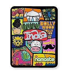 PosterGuy Namaste India India, Bright, Beingindian, Indian, Namaste, Holycow, Nationalbird, Nationalanimal, Tiger, Peacock, Bollywood, Lotus, Buddha, Mooche, Mustache, Elephant, Myindia Mouse Pad