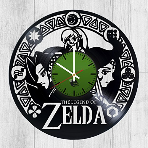 Legend-of-Zelda-Ocarina-of-Time-HANDMADE-Vinyl-Record-Wall-Clock-Get-unique-bedroom-wall-decor-Gift-ideas-for-his-and-her-Video-Games-Unique-Art-Leave-us-a-feedback-and-win-your-custom-clock