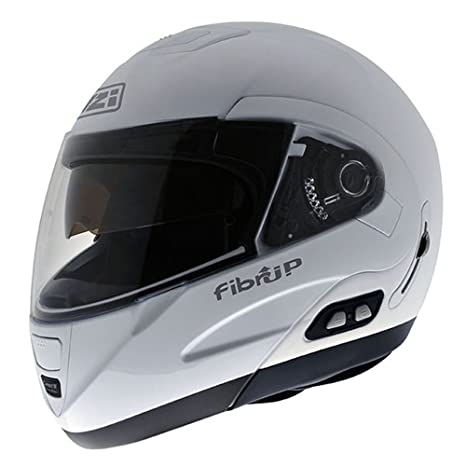 NZI 010220G057 Fibrup White PH, Casque de Moto, Taille XXXL Blanc