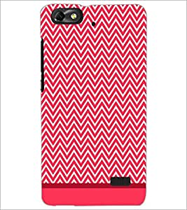 PrintDhaba Zig Zag Pattern D-1689 Back Case Cover for HUAWEI HONOR 4C (Multi-Coloured)