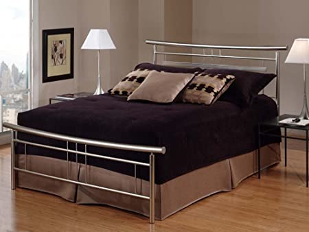 King Soho Bed by Hillsdale - Brushed Nickel (1331-660R)