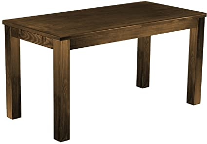 Wooden Table Dining Table Solid Pine 73 x 150 cm in Antique Oak