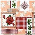 Wachstuch Tischdecke Gartentischdecke Abwaschbar Wintermotiv Weihnachten - Größe wählbar von Moderno - Gartenmöbel von Du und Dein Garten
