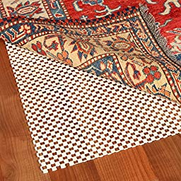 Eco Hold Rug Pad 3\' x 5\' - 100% Heavier and Thicker than Most Rug Pads, Provides Extra Cushion, For All Hard Surfaces, Earth Friendly