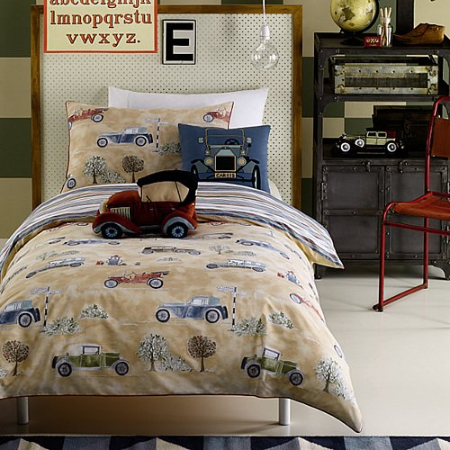 Boys Bedding Cars front-140546