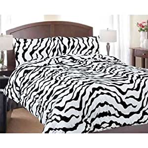 Amazon.com - Twin Size Zebra Print Comforter Only - Zebra ...