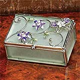 Floral Butterfly Decoration Jewelry Box Container Jewel Ring Holder