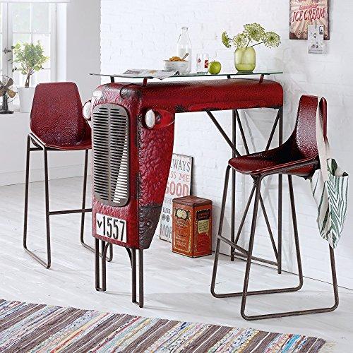 miavilla 2er set stuhl traktor barhocker loft industrial. Black Bedroom Furniture Sets. Home Design Ideas