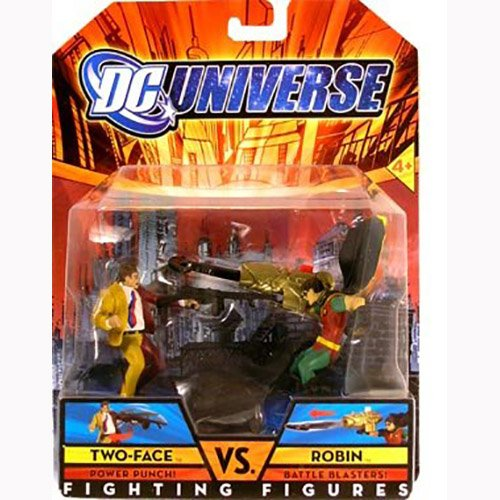 two-face vs robin dc universe fighting figure 2 pack - 1