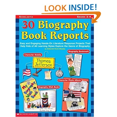 biography report writing template.